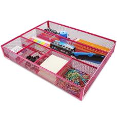 Pink Mesh Metal Office Desk Drawer