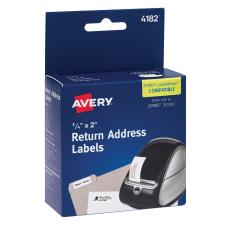 Avery Thermal Return Address Labels 34
