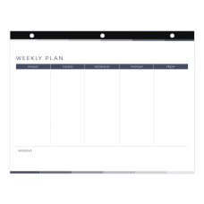 Blueline 52 Week Desk Pad Calendar