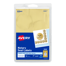 Avery Permanent Self Adhesive Notarial Seals