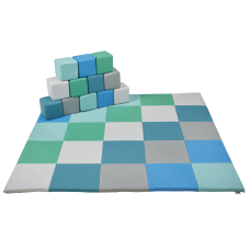 ECR4Kids SoftZone Patchwork Toddler Mat And