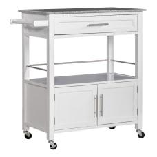 Linon Glen Granite Top Kitchen Cart