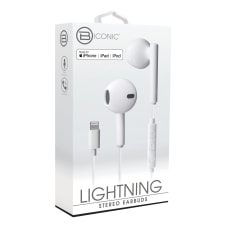 Bytech Wired Earbud Headphones White