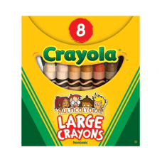 Crayola Multicultural Crayons Large Assorted Colors