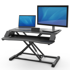Fellowes Corsivo Sit Stand Workstation Black