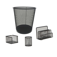 Mind Reader Mesh Desk Organizer Set