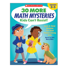 Scholastic 30 More Math Mysteries Kids