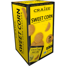 Craize Sweet Corn Toasted Corn Crackers