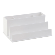 Realspace White Plastic 5 Compartment Desk