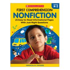 Scholastic First Comprehension Nonfiction Kindergarten To