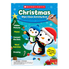Scholastic Christmas Wipe Clean Activity Book