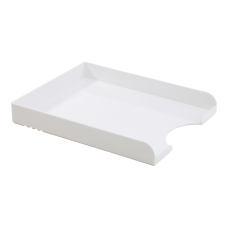 Realspace Plastic Letter Tray White