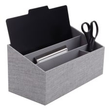 Realspace Gray Fabric 4 Compartment Desk