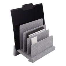 Realspace Gray Fabric 4 Compartment Desk