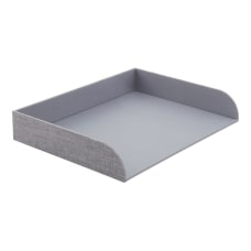 Realspace Gray Fabric Paper Tray Letter