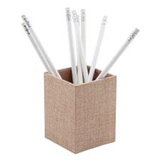 Realspace Tan Fabric Pencil Cup