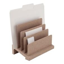 Realspace Tan Fabric 4 Compartment Desk
