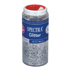 Pacon Glitter Shaker Top Can Silver
