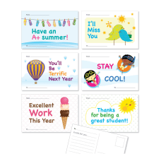 Scholastic Hello Summer Postcards 4 x