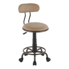 LumiSource Swift Task Chair Antique MetalCamel