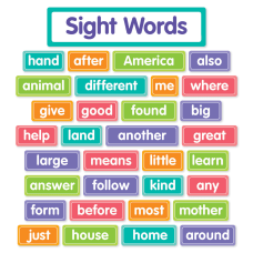 Scholastic More Sight Words Bulletin Board