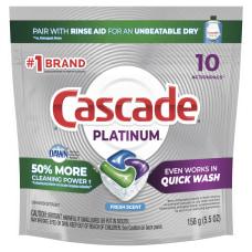 Cascade Platinum ActionPacs Dishwasher Detergent Pods