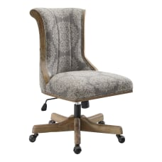 Linon Amberg Office Chair Antique BrownGray