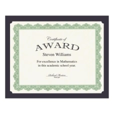 Geographics Recycled Certificate Holder Navy 30percent