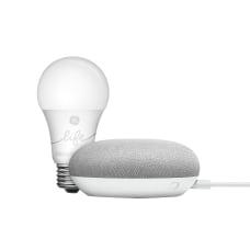 Google Home Mini Speaker GE Smartbulb