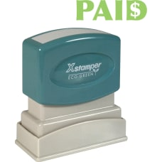 Xstamper Pre Inked PAID Title Stamp