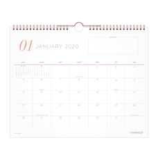 Cambridge WorkStyle Academic Monthly Wall Calendar