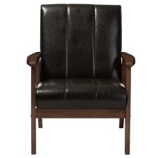 Baxton Studio Luisa Lounge Chair Dark