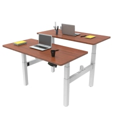 Loctek Height Adjustable Dual Bench Desk