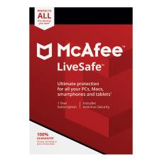 McAfee LiveSafe AntiVirus Software For PCMac
