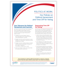 ComplyRight Politics At Work Poster Political