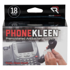 Read Right PhoneKleen Premoistened Wipes Box