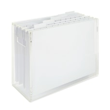 Realspace Acrylic File Box With Hanging