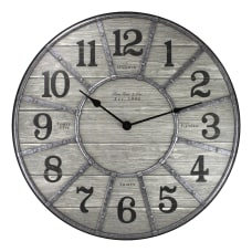 FirsTime Co Cooper Wall Clock Galvanized