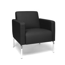 OFM Triumph Series Lounge Chair BlackChrome