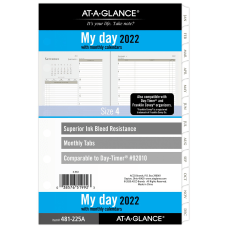 AT A GLANCE DailyMonthly Planner Refill