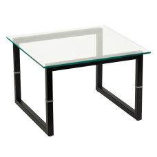 Flash Furniture Glass End Table ClearBlack