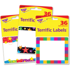 Trend Terrific Labels Colorful Assorted Name