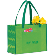 Chevron Non Woven Shopper Tote Bag