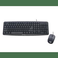 Verbatim Slimline Corded USB Keyboard Mouse