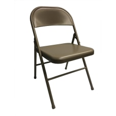 Realspace Metal Folding Chairs Tan Set