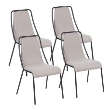 LumiSource Katana Chairs BlackBrown Set Of