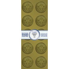 Geographics Embossed Seals 2 Gold Excellence