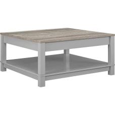 Ameriwood Home Carver Coffee Table Square