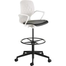 Safco Shell Extended Height Chair BlackWhite