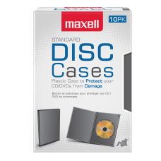 Maxell DVD Video Cases Standard Black